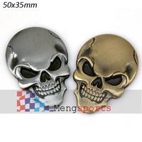 10pcs Real Metal Kirsite human skeleton Skull Skeleton Badges Emblem