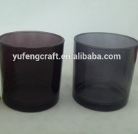black glass candle jars container homes