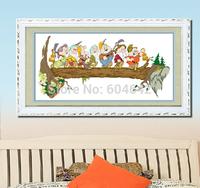"""Wall Home Decoration Cross Stitch """"  Seven Dwarfs """" Cross-Stitch Kit , DIY Cross Stitch Sets,Embroide ry Ki t"""