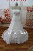 SL-020709 Actual Dress A-line Strapless Appliqued Lace Tulle Designer Wedding Dresses 2014