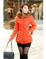 Hot Sale 2014 Women Winter Coat Large Fur Women Down Parka for Lady Outerwear Plus Size 3XL Coat YS8721