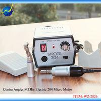 220V 35000Rpm 204 Micromotor Polishing Dremel M33Es E-Motor + Contra Angles Handpiece for Dental Lab, Jewellery, Crimshaw