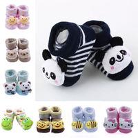 Vogue Lovely Baby Kids Newborn Toddler Cartoon Non-slip Floor Socks Shoes Boots