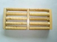Wooden roller rubbing rows of wooden foot massage plantar foot foot massager Wanhui Wholesale Department