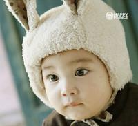 2014 winter new arrival new super lovely rabbit model Super baby tender velvet hat beanie kawayii babies hat