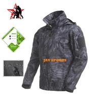 Tiggerland Soft Shell Jacket Man Waterproof Night Prowls Kryptek Typhon Autumn Coat+Free shipping(SKU12050379)