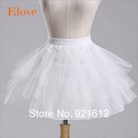 2015 Free Shipping Top Quality Stock Three Layer Net White A-Line Flower Girl Dress Petticoat / Child Crinolines/Underskirt PT02