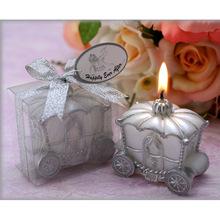 Elegante carruagem de abóbora vela de solda do presente do Favor vela romântica decoração de casamento FE #8(China (Mainland))