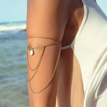 1PCS 2014 Hotsale Women Lady Personality Punk Gothic Upper Arm Cuff Armlet Armband Bangle Bracelet Free Shipping