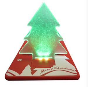 Promotion Gift LED Card Pocket Lamp Christmas Tree Press Company Logo 1 lot 1 Dozen 12 PCS(China (Mainland))