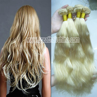 "European Virgin Blonde Natural Wave Human Hair Extension, 16""-26"" 613# Hair Weaving 1 Piece/Lot, Free Shipping"