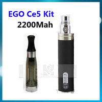 Updated Electronic e cigarette EGO CE5 starter kit ce5 atomizer clearomizer EGO II 2200MAH battery