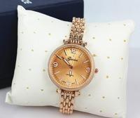 XMAS Big Bargain!! New Fashion Geneva Women Ladies Full Stainless Steel Dress Bracelet Gift Watch Rose Gold