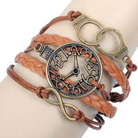 eparation of antique leather fashion bracelet watch handcuffs series products Qinuo new large Congyou can be mixed batch