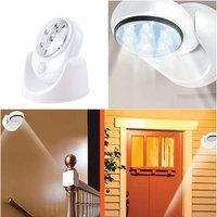 New 7 LED Light 360 Degree Rotation Wireless Motion Sensor Security Detector Light#61820