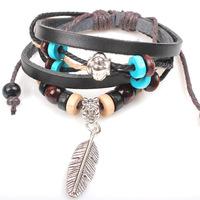 free ship Feather Kraft wood beads bangle style of Indian wholesale