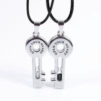 le key titanium alloy pendant jewelry wholesale individual pendant Valentine's Day Jewelry hourglass necklaces wholesale