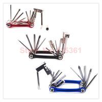 Multi-functional 11 in 1 road mount bicycle repair tool bicycle chain breaker Splitter Cutter tool bicycle chain tool