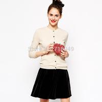 2014 Fall Winter Sweater Coat Lace Embroidery Heart-Shaped Pattern Cardigan Women Sweater Beige Cardiga Casual Womens Sweaters