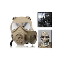 M04 Tactical Airsoft Skull Perspiration Fog Proof Fan Paintbal Dummy GAS Full Face Mask for Cosplay 3 Colors Free Shipping