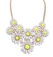 2014 New Style Western Statement Fashion chain pendant Choker Women Flower Necklace Jewelry Hot Wholesales great gift