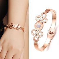 Rose Gold Plated Surgical Stainless Steel Best Friend Bangles For Women Unique Cute Bracelets&bangles For Girls Party Jewelry