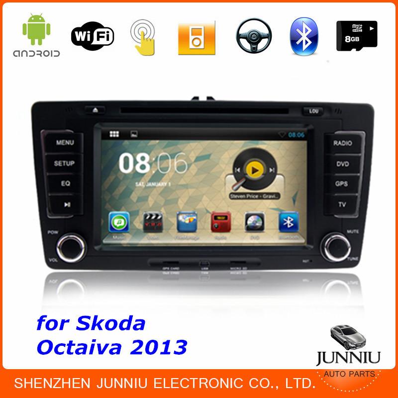 Автомобильный DVD плеер Junniu 4.2.2 DVD/skoda Octaiva 7/2 Din GPS GPS 8GB автомобильный dvd плеер zhoon android 4 2 2 dvd gps xtrail nissan x trail