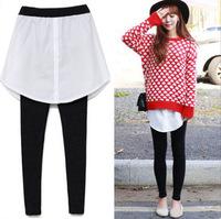 2014 Winter New Design Women Fashion Patchwork Skirt Leggings Cotton Female Pants Casual Wear BCL14926