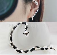 Korean snake earring ear clip crystal  ear cuff fash drilling earrings 2014 new U-type ear clips girl
