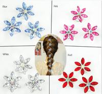 NEW Frozen Hair Clips Snowflake Spiral Clip Bridal Hair accessories Children Snow Hair Clips Headwear 20pcs/Lot Girls Hairpin