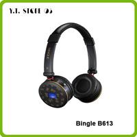 Bingle B613 Multifunction Wireless FM radio SD Card Multi Function LED Stereo Over Ear PC TV Phone MP3 Music Headset Headphones