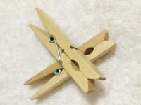 F10072 50pcs Bamboo Clip Clothes Peg / Sealing Tights Bag Clip Small Laundry Folder + Free Ship