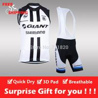 Free shipping/2014 glant cycling sleeveless jersey and bib shorts/Ciclismo jersey/cycling vest/cycling gilet/bike clothing