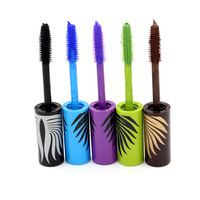 3D Mascara Makeup Mascara Waterproof Mascaras Curling 2pcs/lot 5 Colors Eye Makeup Fiber Mascara With Comb Brush They're Real