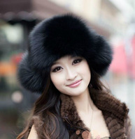 Free shipping Deluxe Edition quality imitation fox fur Lei Feng cap wool cap thickening Russia northeast warm snow hat