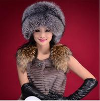 2014 Korean version of the new winter grass hat imitation leather flat cap fox caps Russian snow hat cold cap