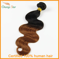 "Peruvain Ombre Virgin Hair Body Wave Ombre Hair Extensions TwoTone 1Bundles 1b 30#10""-30"" Human Hair Weave Tissage Hair BB111"