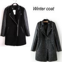 Women coat winter trench casual fashion leather abrigos mujer desigual overocat woolen women clothes casacos femininos jaqueta
