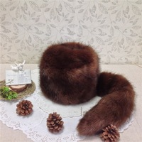 Interspia append new winter hat detachable tail fox tail Russia