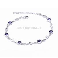 GNS0082 New Fashion 925 Sterling Silver Bracelets & Bangles Silver Stylish Jewelry CZ Crystal Bracelet for Women Free Shipping