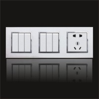 hot sell Wall Power  switch & Socket  feichi series  new design for hotel use 6gang one way+5pin outlet