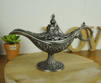 Free Shipping - Antique Arts Craft Aladdin Lamp Vintage Home Decor BIG Size Arabian Nights Story