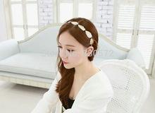 1 pc Chram mulher preto elástico strench cadeia corda folhas hairband faixa de cabelo hoop accessroies headband das mulheres jóias noiva tiaras(China (Mainland))