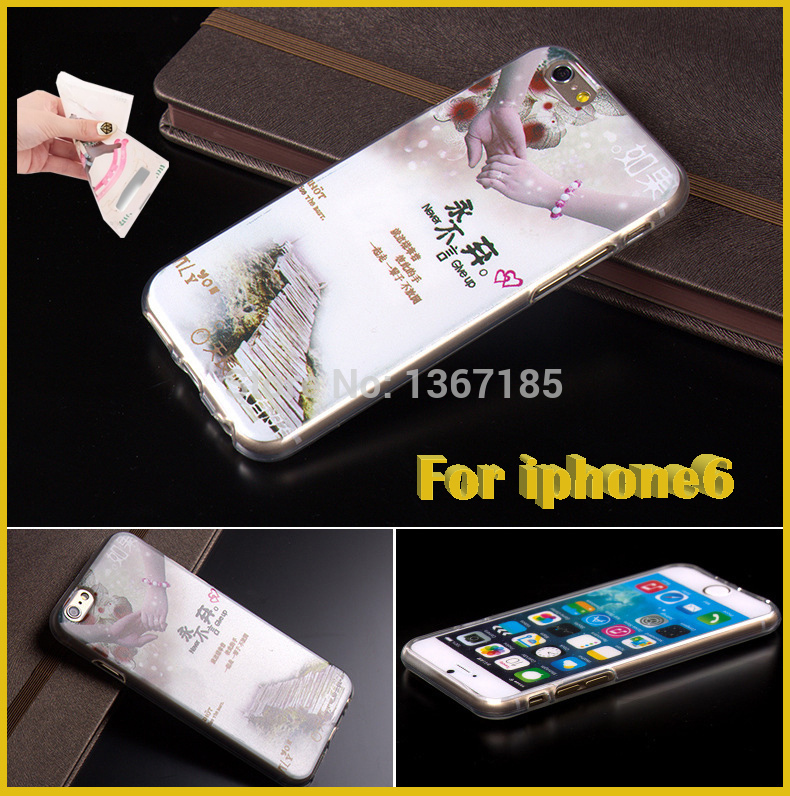 New Hot Protective Sleeve Case For iPhone6 Sets of Silicone Protective Cover Painted Soft Shell Case Cover For iphone 6/6Plus(China (Mainland))