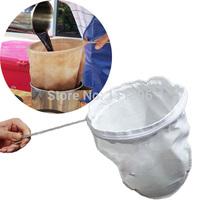 1 Pcs/Lot High Quality Handle Nut Milk Tea Coffee Filter Net Bag Washable Fine Strainer 13.5cm x 25 cm Free Shipping