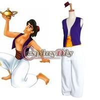 Free Shipping Customized Movie Aladdin Lamp Prince Aladdin Costume Prince Cosplay Costume
