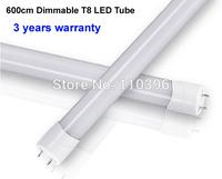 900-1000lm warm white/white/cool white 3014 smd dimmable t8 led tube 600mm epistar chip 8w led tube light,5pcs/lot