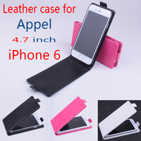 For iPhone 6 Up and Down Leather Moblie Phone Flip PU Case Cover For 4.7 Inch