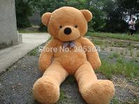 "White TOYS 6.6 FEET BIG TEDDY BEAR STUFFED 4 Colors GIANT JUMBO 78"" size:200cm Embrace Bear Doll lovers/christmas/ birthday gift"