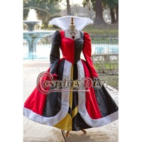 Free Shipping Customized Movie Princess Coplay Costume Queen of Hearts Princess Villains Dress